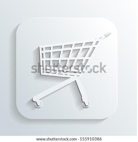 cart icon - stock photo