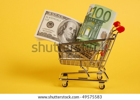 Cart with cash
