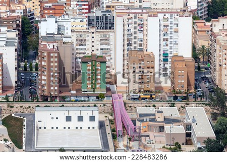 CARTAGENA, SPAIN - JUNE 16: Residential buildings in the city of Cartagena. June 16, 2014 in Cartagena, Spain