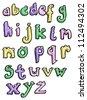 cartoon alphabet set - stock photo