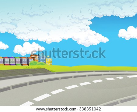 Cartoon background- illustration for the children