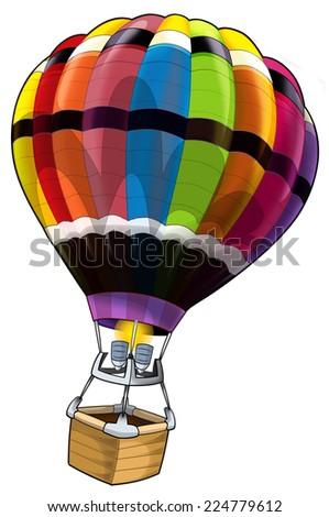 Cartoon balloon - illustration for the children - stock photo