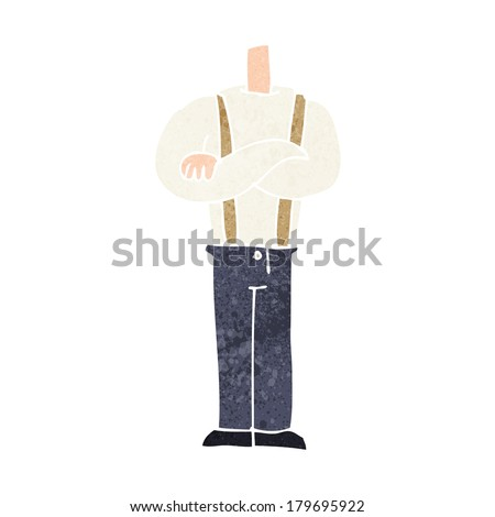 cartoon body with folded arms (mix and match cartoons or add own photos)