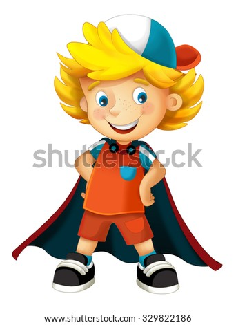 Cartoon character - halloween - illustration for the children