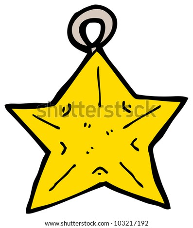 cartoon christmas star bauble