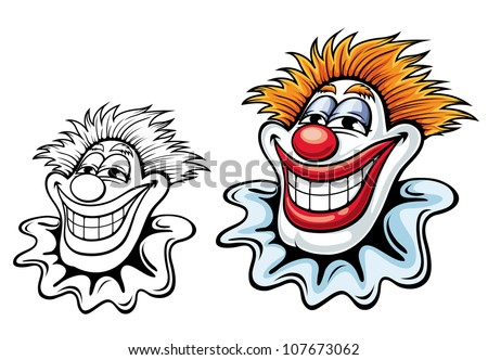 Cartoon circus clown for carnival, party or another entertainment design. Vector version also available in gallery - stock photo