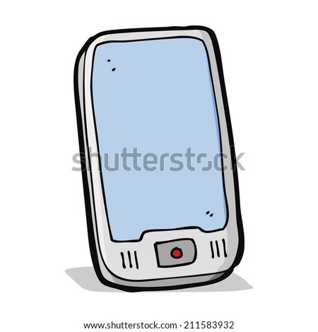 cartoon computer tablet - stock photo