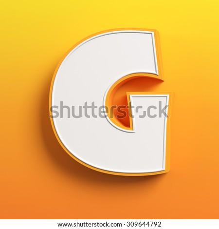 cartoon 3d font letter G - stock photo