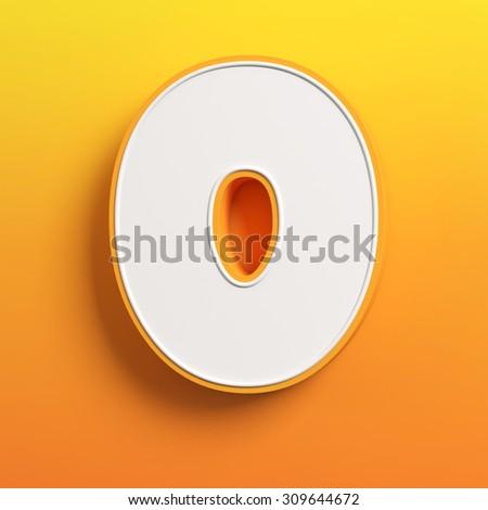 cartoon 3d font letter O - stock photo