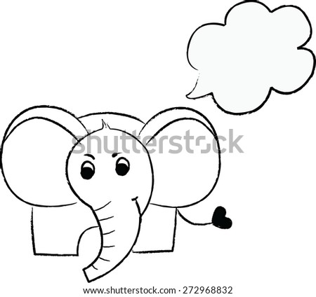 cartoon elephant.