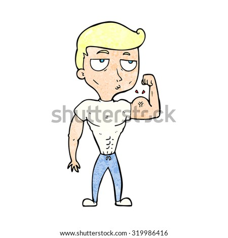 cartoon gym man