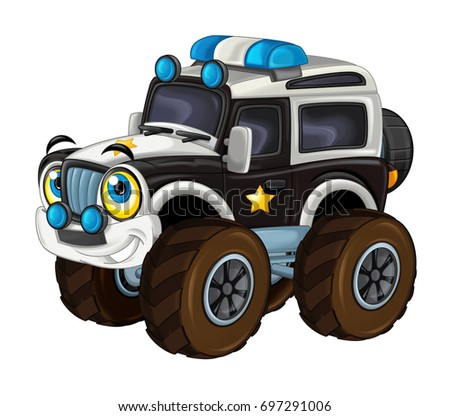 Vector Cartoon Monster Truck Separated Stock Vector