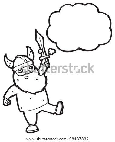 cartoon happy viking