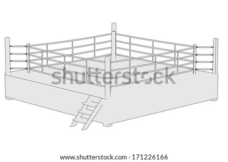 cartoon image of boxing ring