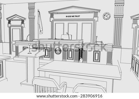 Cartoon Court Scene Cartoon Image of Court Room