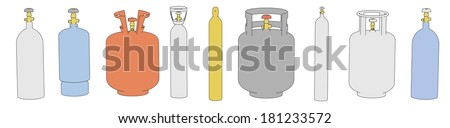 cartoon image of gas cans