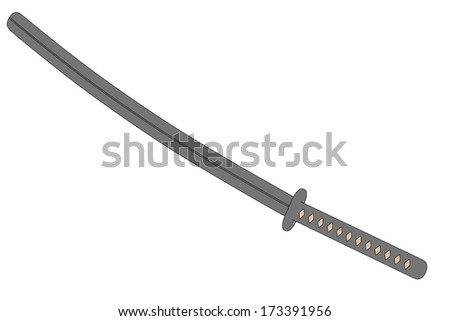 cartoon image of katana weapon