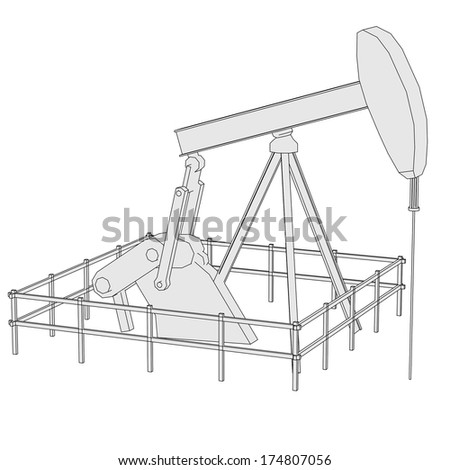cartoon image of oil dig - stock photo