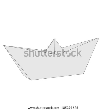 cartoon image of origami ship