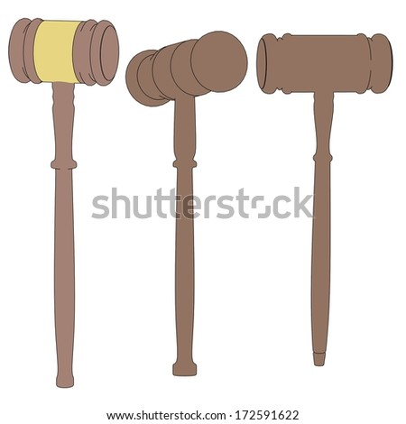 cartoon image of wooden gavels