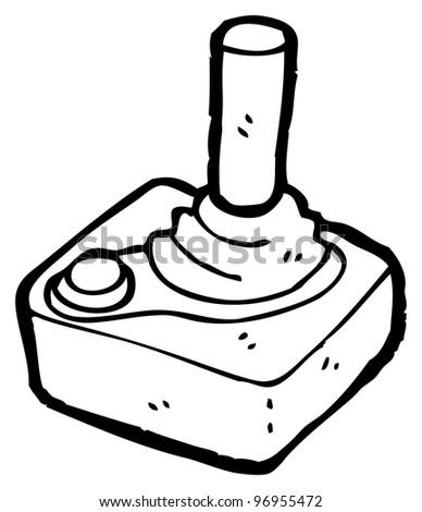 cartoon joystick - stock photo