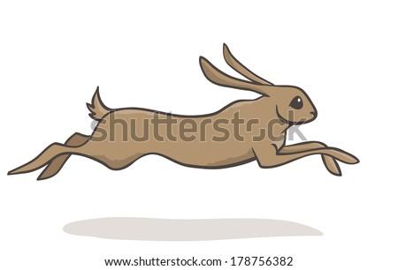 Running Rabbit Cartoon Cartoon Light Brown Running