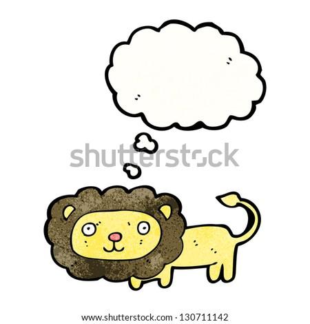 cartoon lion - stock photo