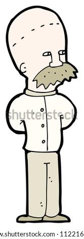 cartoon mad scientist - stock photo