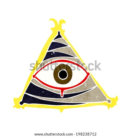 cartoon mystic eye symbol