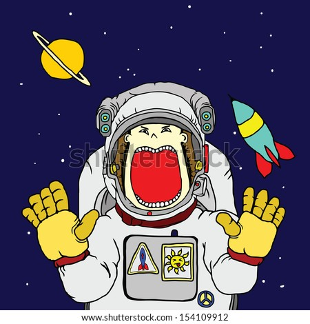 astronaut floating in space cartoon - photo #29