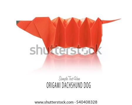 Cartoon Origami Dachshund Dog Stock Photo 540408328 Shutterstock