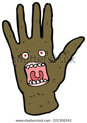 cartoon possessed hand cartoon
