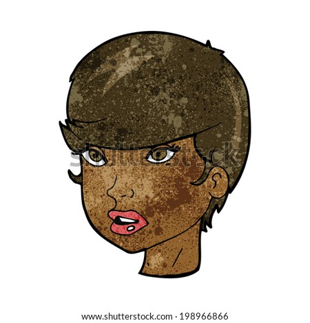 cartoon pretty female face