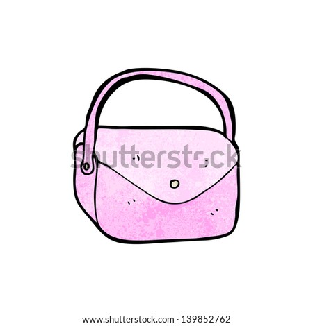 Pink Purse Cartoon Cartoon Purse