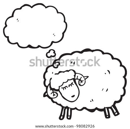 cartoon ram - stock photo