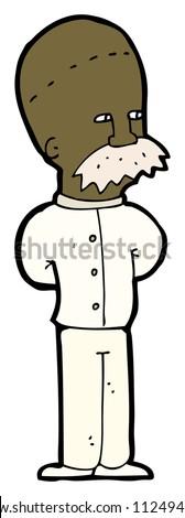 cartoon scientist man - stock photo