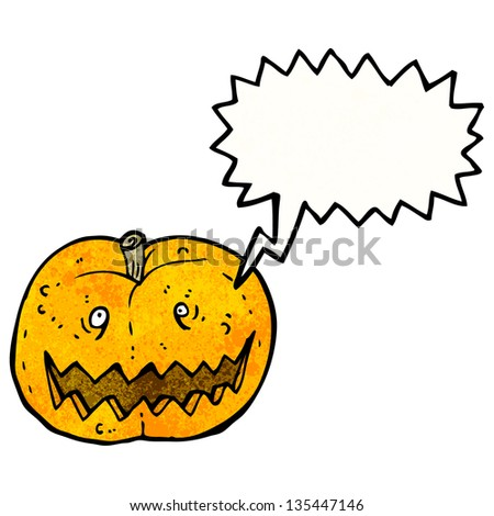 cartoon spooky pumpkin