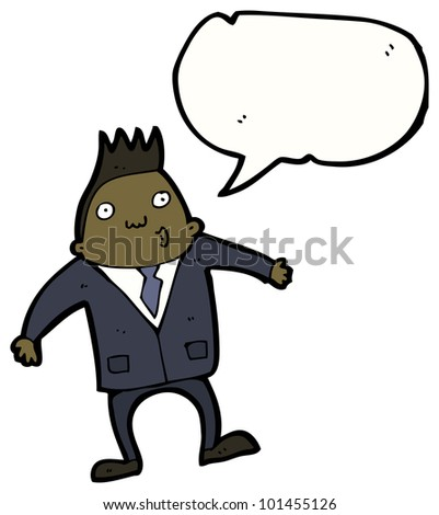 cartoon surprised businessman