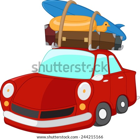 cartoon Travel car