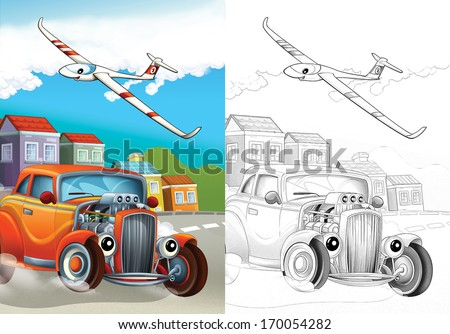 Cartoon vehicle - illustration for the children