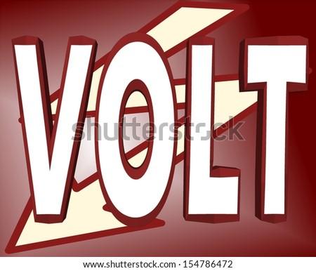 Cartoon VOLT illustration - stock photo