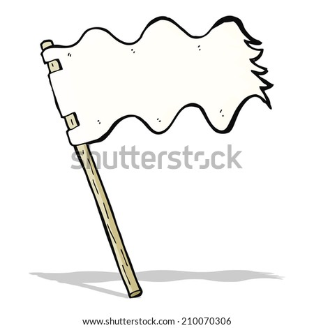 cartoon white flag