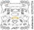 Cartouches set illustration - stock vector