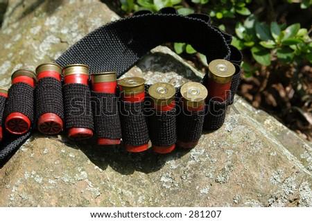 Cartridge Belt - stock photo