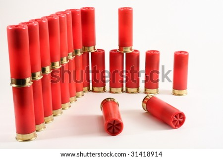 cartridges for shotgun - stock photo