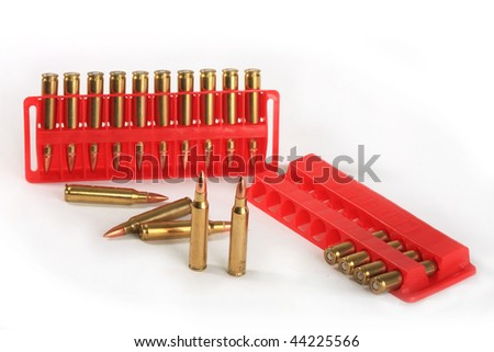 Cartridges of calibre 223 Rem, possess in the high speed and accuracy that gives confidence to the hunter - stock photo