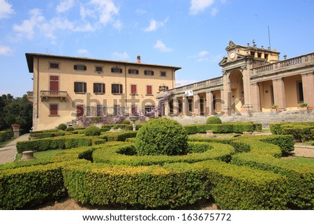 caruso Villa Medici villa architecture rural manor houses and stately homes owned by the tenor caruso Lastra a Signa florence - stock photo