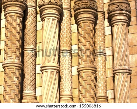 Carved Columns - stock photo
