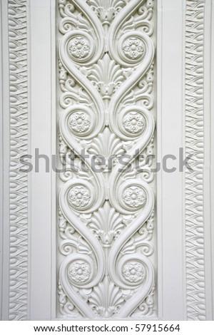Carved stone decoration - stock photo