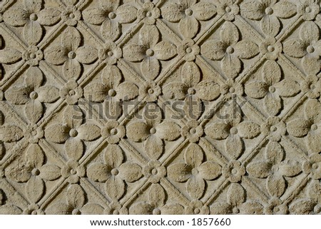 Carved stone flowers
